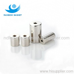 Neodymium magnet with screw hole