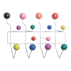 hang it all Fahion hangers for clothes Welded steel wire fame with PP balls Coat Hanger Wholesale