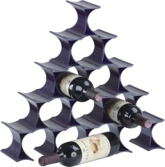 Fashion Practical Plastic Triangle Wine Rack standing 10 bottles home kitchen wine racks storages wholesale