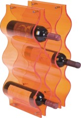 Modern Crystal Acrylic orange wine Racks 9 bottles home wine storage rack