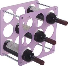 Gorgeous Purple plastic Infinity Bottle Rack 9 bottles storage wine racks kitchen wineracks