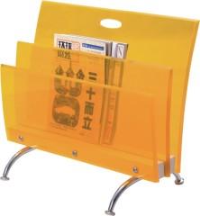 Luxury Crystal Acrylic Yellow Plastic Bedroom Organizer rack magazine storage holder