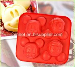 wholesale available mickey mose shape silicone backing tray