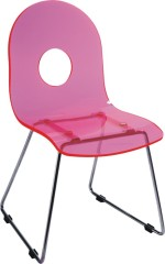 Plastic seat chromed legs ergonomic children side chairs