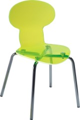 Luxury Yellow Plastic Clear Ant Chair children side chiars ergonomic school seating chair