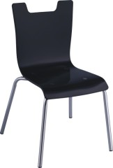 Black acrylic Safe Baby Seat ergonomic dining side chair children chairs