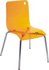 Modern Plastic yellow Acrylic Baby Chair ergonomic children s side chairs seating