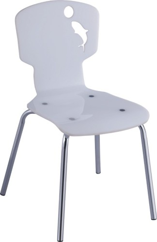 Modern White Plastic children side chair kids chairs seating