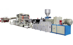 Five-layer plastic building template making production line