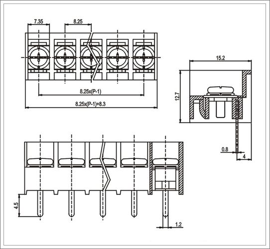electrical barrier terminal block strips from china