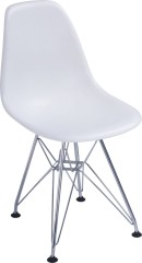 Luxury white plastic seat Chromed Steel base Kid's Seat ergonomic children side chairs