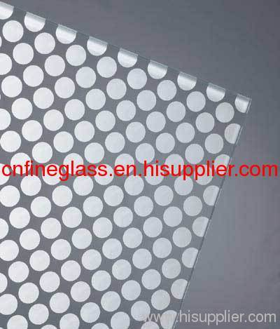 patterned silk screen glass