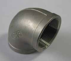 stainless steel BSPT thread elbow