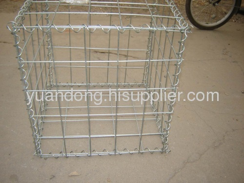 welded gabion mesh galvanized wire PVC coated wire