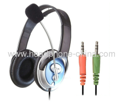 Over Ear Computer Headphone with Microphone