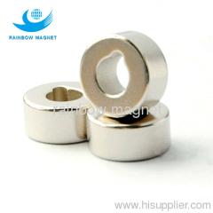 Permanent neodymium Iron Boron ring magnet.