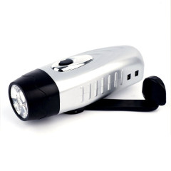 Dynamo flashlight with adapter socket