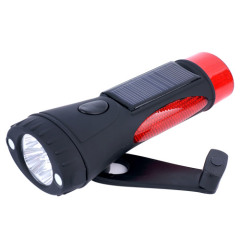 solar & hand-cranking flashlights