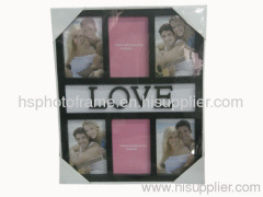Plastic Injection Photo Frame, 4X6-6 opening,meansures44X36.8X2.5CM