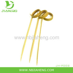 Green healthy disposable bamboo skewers with handle