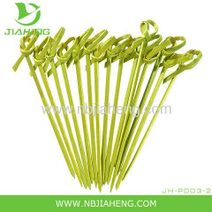 "4"" Bamboo Skewers 200 Cocktail Stirrers Twisted Knotted Picks Wholesale Eco NEW"