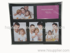 Plastic Injection Photo Frame,6X4-3&4X6-2 opening,meansures 35.7X29.4X2.8CM