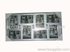 Plastic Injection Photo Frame ,4X6-8 opening ,Silver Colour Availiable