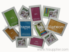 Wooden photo frame,11Opening,White Colour Availiable