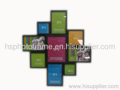 Wooden Photo Frame,9Opening ,Meansures,52.5x47.5x3cm