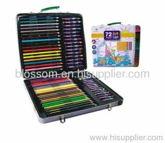 Metalic box color pencil set for children