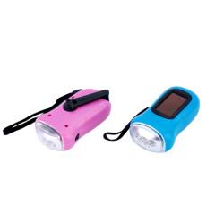 3 LED solar dynamo flashlights