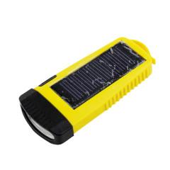 Flashlight with solar panel
