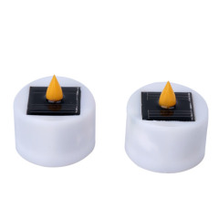 solar candle lights work for 8-15 hours
