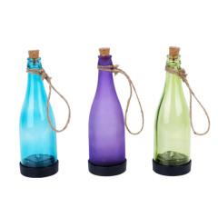 Bottle shape lamp for solar candle light