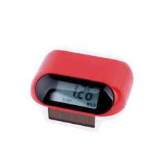 solar powered pedometer with backup battery
