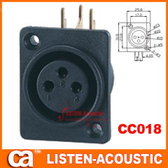 female connector XLR 3pins plug