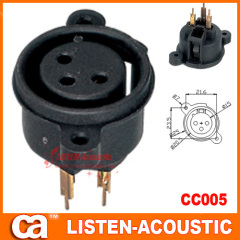 Sockets connectors XLR for male jacks