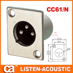 XLR connectors in metal design waterproof socket