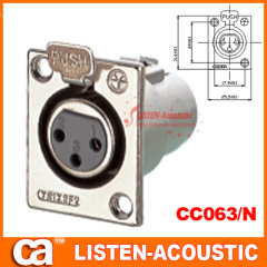 connector XLR metal design with push to male