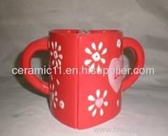 Emboss stoneware mug