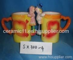 Animal stoneware mug