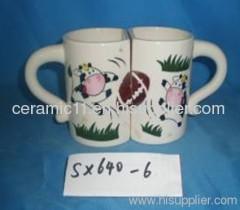couple stoneware mug