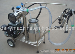 gasoline portable single milking machine for cow