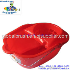 HQ2330 18L best-seller household plastic mop bucket,cleaning bucket for mops in bright red color