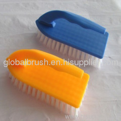 HQ8119 China factory sale iron shape PP scrub brush,cleaning clothes brush for home usage