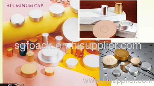 24/415 aluminum cap pp inner cap screw cap cosmetic container anodized aluminum package