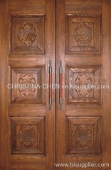 veneer entrance door. carved solid wooden door