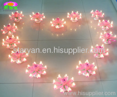 Rotating Rose Flower Magic Birthday Candles