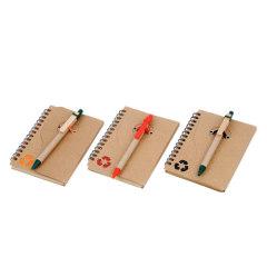 Notebook with ballpens