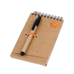Recycled paper notebooks with ballpen